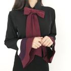 Ruffled Bow-Accent Shirt 1596