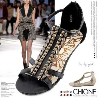 Picture of Chione T-Strap Sandals 1022971896 (Sandals, Chione Shoes, Korea Shoes, Womens Shoes, Womens Sandals)