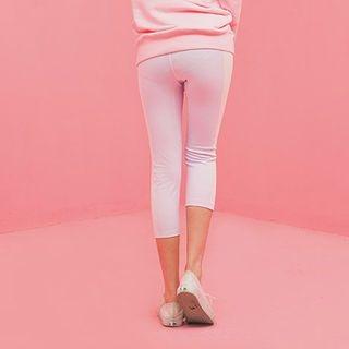 Two-Tone Cropped Yoga Pants 1055114614