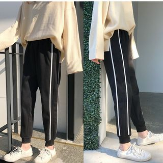 Contrast Trim Sweatpants 1064226162