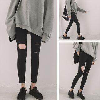 Distressed Slim Leggings 1058531608