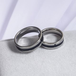 Couple Matching Stainless Steel Ring