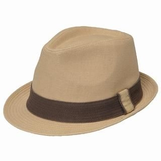 Belted Fedora Hat (Extra Large Size) Ecru - One Size