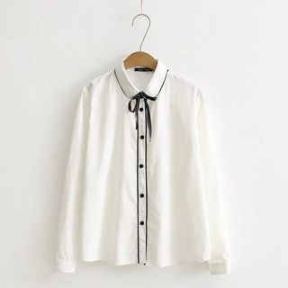 Image of Bow Neck Blouse