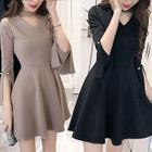 Choker-Neck Mini Dress 1596