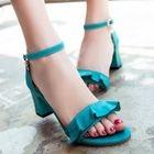 Chunky Heel Frill Trim Sandals 1596
