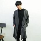 V-Neck Open-Front Long Cardigan 1596