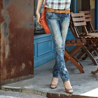 Picture of Alice Room Washed Blue Jeans 1022597099 (Alice Room Pants, South Korea Pants)