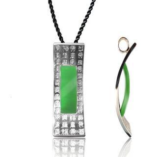 Jade Pendant with Silk Cord