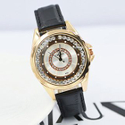 Rhinestone Genuine Leather Strap Watch 1596
