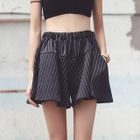 Frilled Striped Shorts 1596