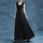Sleeveless Lace Panel A-Line Evening Gown 1596