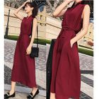 Sleeveless Tie-Waist Midi Dress 1596