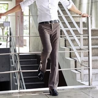 Buy Style YOURS Check Boot-Cut Dress Pants 1022933000