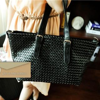 Buckled Woven Tote