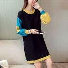 Long-Sleeve Pocketed Sweater Dress 1596