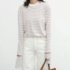 Ripped Striped Long Sleeve T-Shirt 1596