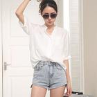 Elbow Sleeve Chiffon Shirt 1596