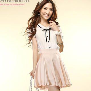 Buy Tokyo Fashion Mock Two-Piece Chiffon Dress 1022859374