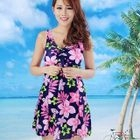 Bow-Accent Printed Swimdress 1596