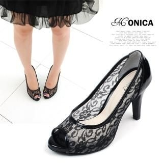 Picture of Miz shoes Open-Toe Lace Pumps 1022833683 (Pump Shoes, Miz shoes Shoes, Korea Shoes, Womens Shoes, Womens Pump Shoes)