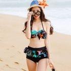 Ruffle Floral Bikini Set 1596