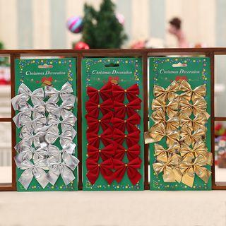 Decoration | Christmas | Fabric | Bow | Set