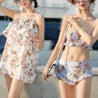 Set : Floral Print Bikini + Cover-up 1596