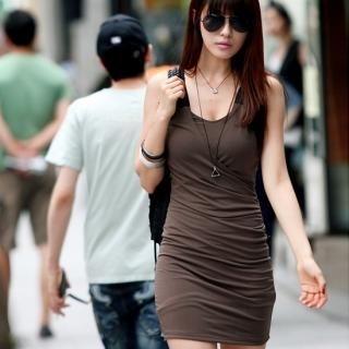 Picture of REDOPIN Lace-Yoke Sleeveless Dress 1022947579 (REDOPIN Dresses, Womens Dresses, South Korea Dresses, Sleeveless Dresses)