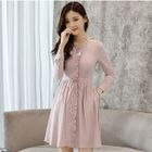 Frill Trim Long-Sleeve Dress 1596