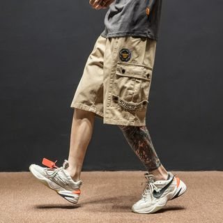 Image of Bagde-Accent Cargo Shorts