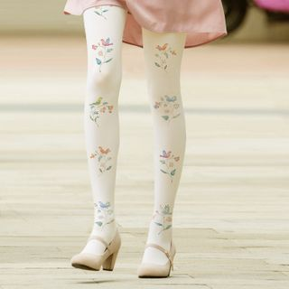 Floral | Tight | White | Bird | Size | One