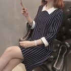 Striped 3/4-Sleeve Dress 1596