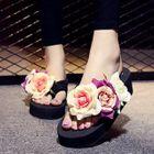Platform Flower Flip-Flops 1596
