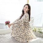 Tie-Waist Floral Print Wrap Dress 1596