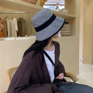 Bucket | White | Black | Hat