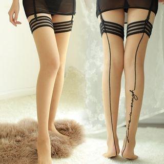 Contrast Stripe Stockings 1064730087