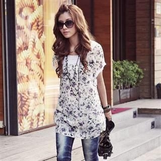 Buy PUFFY Floral Print Chiffon Dress 1022461110
