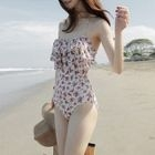Floral Print Ruffle Swimsuit 1596