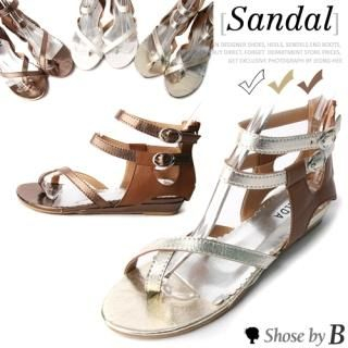 Buy Shoes by B Buckled Strap Thong Sandals 1022808645