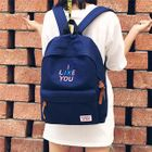 Canvas Embroidered Backpack 1596