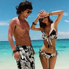 Couple Floral Bikini / Floral Beach Shorts / Couple Set: Floral Bikini + Beach Shorts 1596