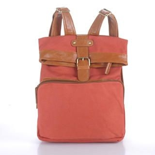 Buy Smoothie Buckled Panel Canvas Backpack 1023045538