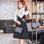 Rosette A-Line Jumper Dress 1596
