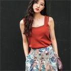 Square-Neck Sleeveless Knit Top 1596