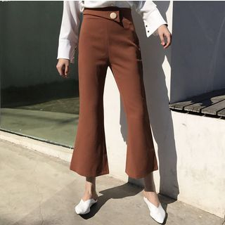 Plain Boot-cut Pants 1057977019