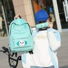 Set: Printed Backpack + Crossbody Bag + Zip Pouch + Pencil Case 1596