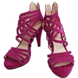 Buy CLICK Faux-Suede Strap Sandals 1022565886