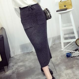Ribbed Pencil Skirt 1057451813