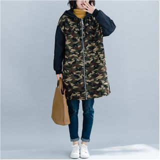 Camouflage | Jacket | Green | Army | Long | Size | One